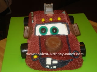 Homemade Tow Mater Birthday Cake