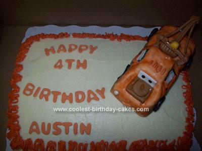 Homemade Tow Mater Birthday Cake