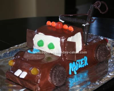 Surprising Coolest Tow Mater Birthday Cake Funny Birthday Cards Online Bapapcheapnameinfo