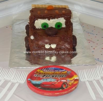 Awesome Coolest Tow Mater Birthday Cake Funny Birthday Cards Online Benoljebrpdamsfinfo