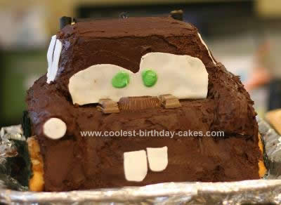 Fabulous Coolest Tow Mater Birthday Cake Funny Birthday Cards Online Alyptdamsfinfo