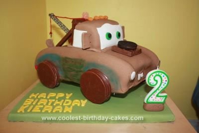 Awesome Coolest Tow Mater Birthday Cake Funny Birthday Cards Online Alyptdamsfinfo