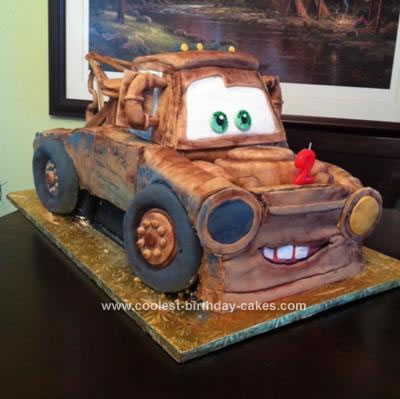 Remarkable Coolest Tow Mater Birthday Cake Funny Birthday Cards Online Alyptdamsfinfo