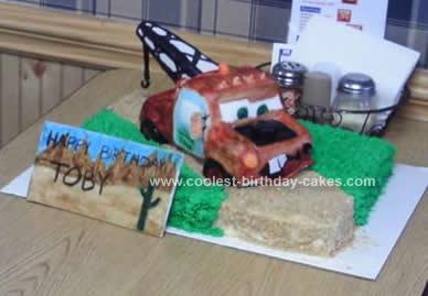 Homemade Tow Mater Cake