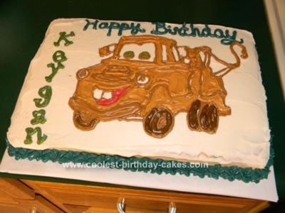 Prime Coolest Tow Mater Cake Funny Birthday Cards Online Alyptdamsfinfo