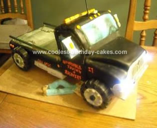 Homemade Tow Truck Cake