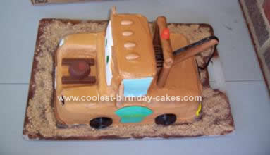 Homemade Towmater Birthday Cake