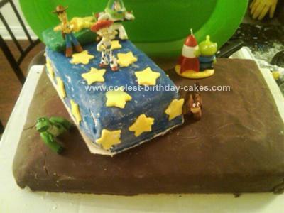 Homemade Toy Story 2nd Birthday Cannoli Cake