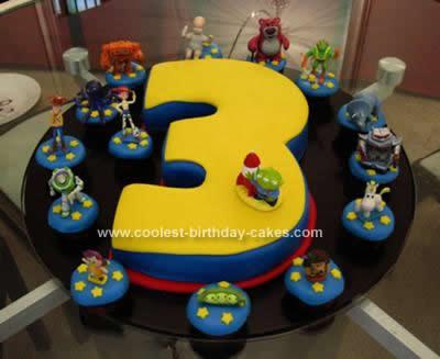 Groovy Cool Homemade Toy Story 3Rd Birthday Cake Funny Birthday Cards Online Alyptdamsfinfo