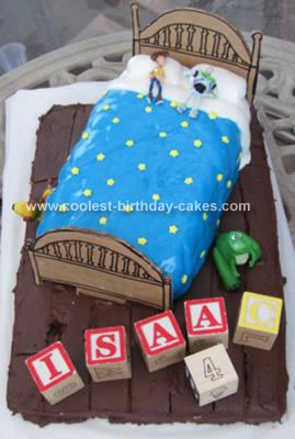 Homemade Toy Story Andy's Bed Birthday Cake
