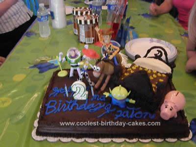 Homemade Toy Story Birthday Cake