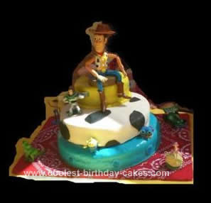 Hmemade Toy Story Birthday Cake