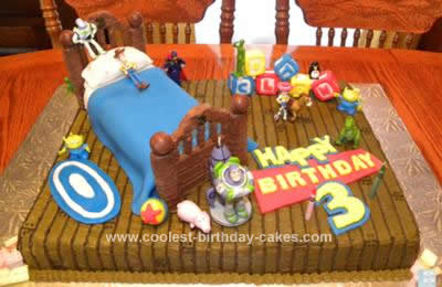 Super Coolest Toy Story Birthday Cake Design Funny Birthday Cards Online Alyptdamsfinfo