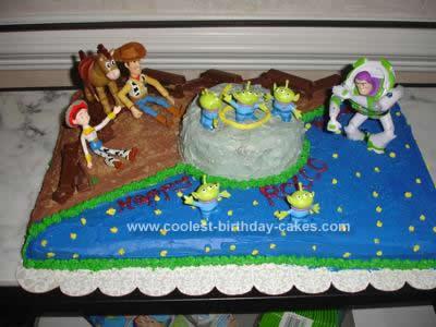 Enjoyable Coolest Toy Story Birthday Cake Design Personalised Birthday Cards Veneteletsinfo