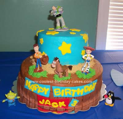 Terrific Coolest Toy Story Birthday Cake Design Personalised Birthday Cards Rectzonderlifede