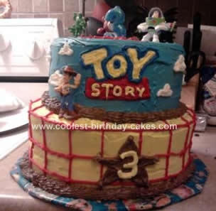 Awesome Coolest Toy Story Birthday Cake Design Personalised Birthday Cards Arneslily Jamesorg