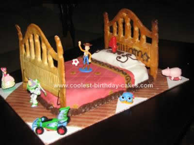 Homemade Toy Story Birthday Cake Idea