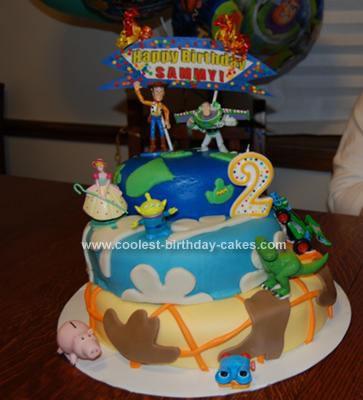 Homemade Toy Story Buzz Lightyear Cake