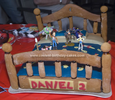 Homemade Toy Story Cake