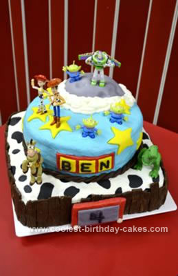 Incredible Coolest Toy Story Cake Personalised Birthday Cards Arneslily Jamesorg
