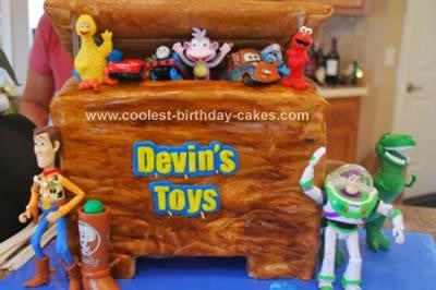 Homemade Toy Story Toy Box Birthday Cake
