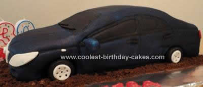 Homemade Toyota Car Birthday Cake