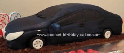 Homemade Toyota Car Birthday Cake