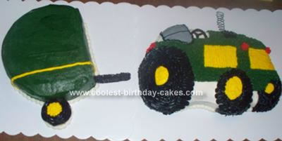 Homemade Tractor and Baler Cake