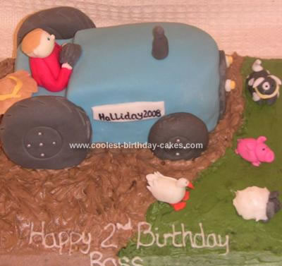 Homemade Tractor and Field Cake