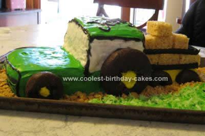 Homemade Tractor Birthday Cake