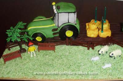 Homemade Tractor Birthday Cake Design