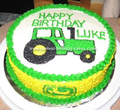 One Year Old He Had To Share His Birthday Coolest Tractor Cake