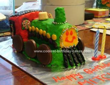 Homemade Train Birthday Cake