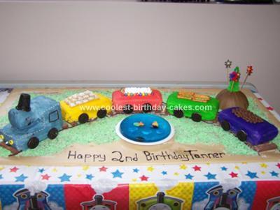 Superb Coolest Train Birthday Cake Birthday Cards Printable Inklcafe Filternl