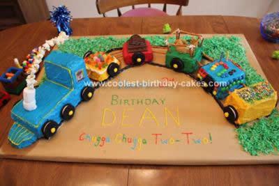 Admirable Coolest Train Birthday Cake Design Personalised Birthday Cards Veneteletsinfo