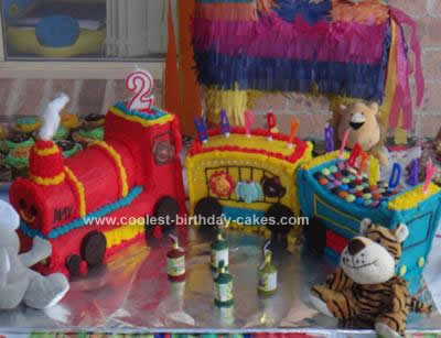 Homemade Train Birthday Cake Design