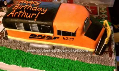 Homemade Train Cake