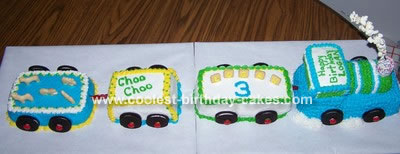 Logan's Birthday Train Cake