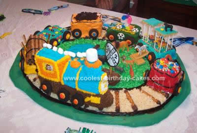 Homemade Train Cake Design