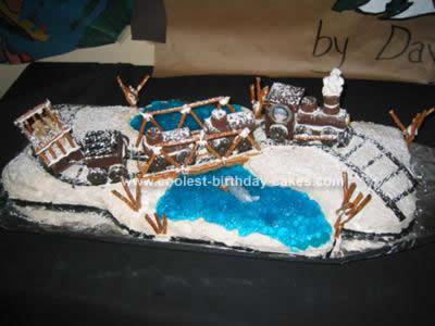 Homemade Train Cake Design