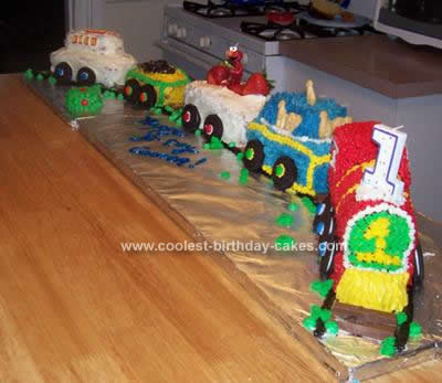 Homemade Train Cake Idea
