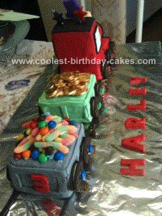 Homemade Train Cake Idea