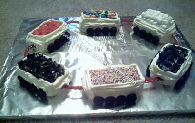 Homemade Train Car Mini Cakes