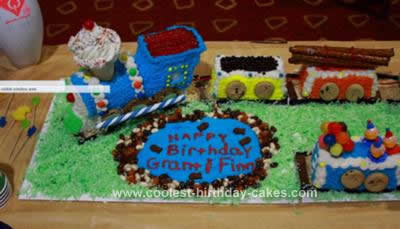 Homemade Train Choo Choo Cake