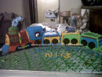 Homemade Train Choo Choo Cake