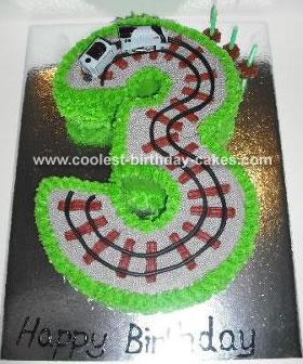 Train Track Cake