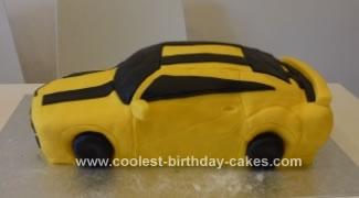 Homemade Transformer Birthday Cake
