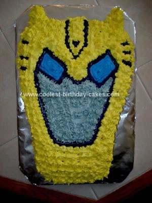 Amazing Coolest Transformer Bumblebee Birthday Cake Personalised Birthday Cards Paralily Jamesorg