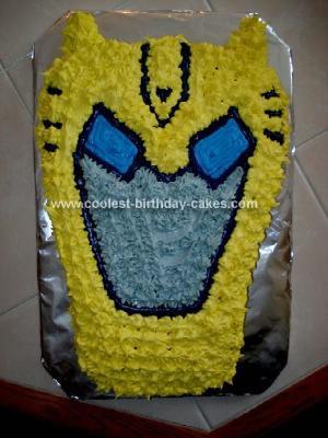 Homemade Transformer Bumblebee Birthday Cake