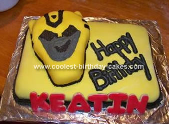 Transformer Bumblebee Cake
